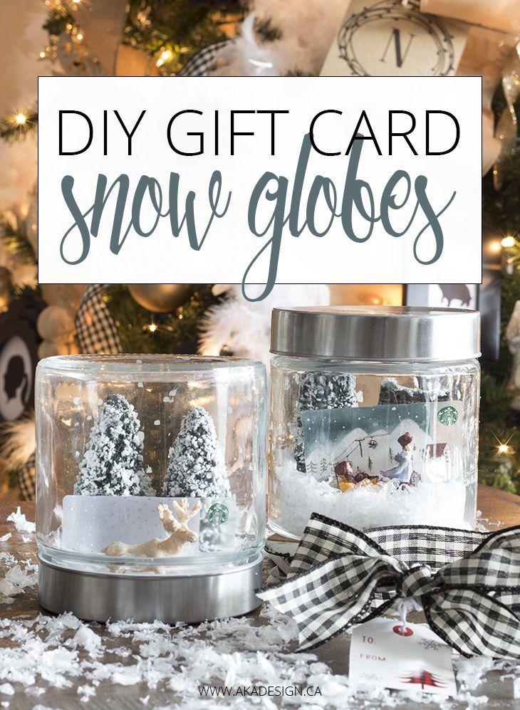 Diy Gift Card Snow Globe Gift Card Presentation Diy Gift Card Gift Card Displays