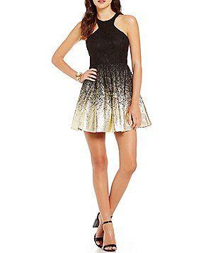 B darlin gold dress