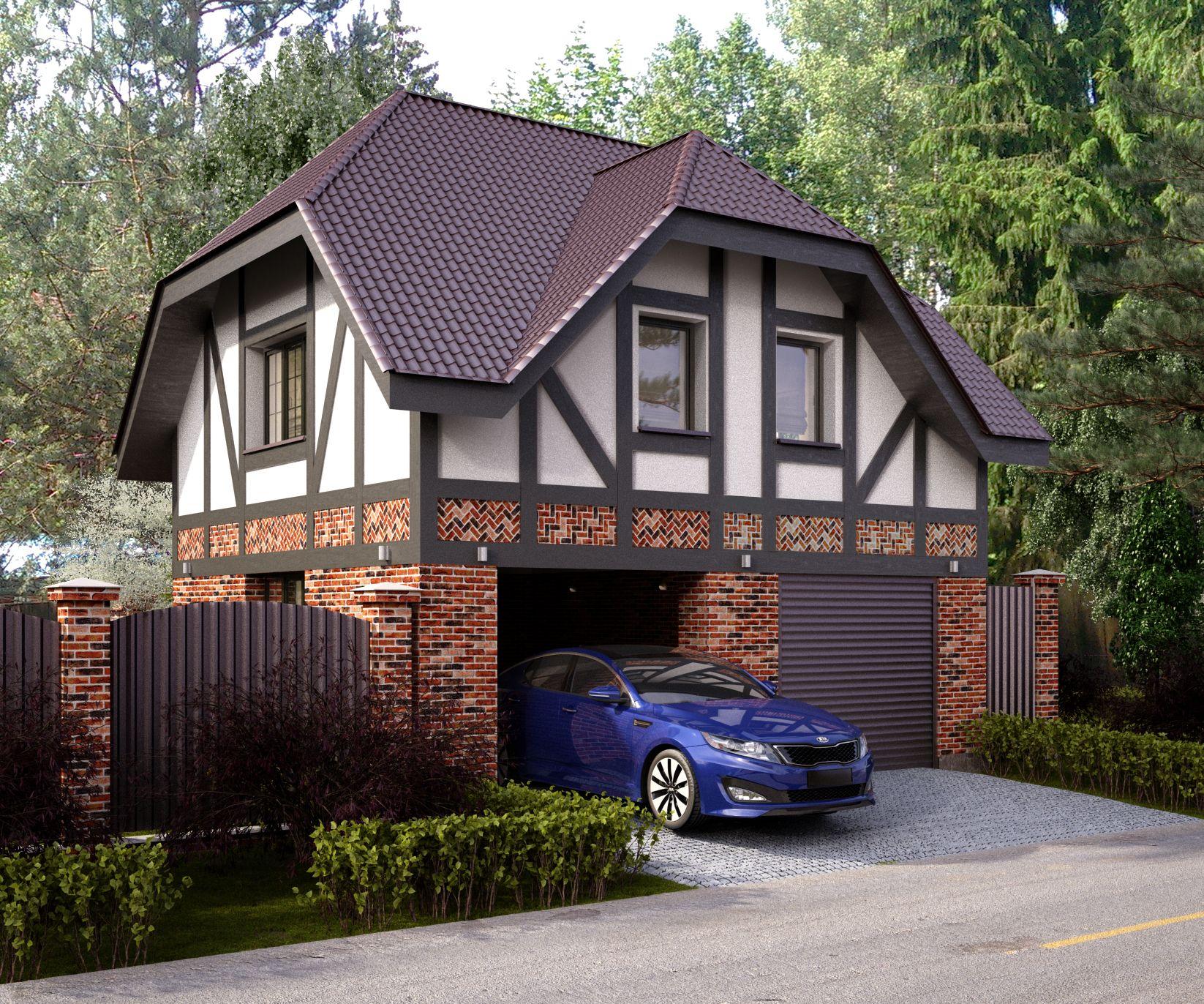небольшой кирпичный дом с гаражом фото продукты для