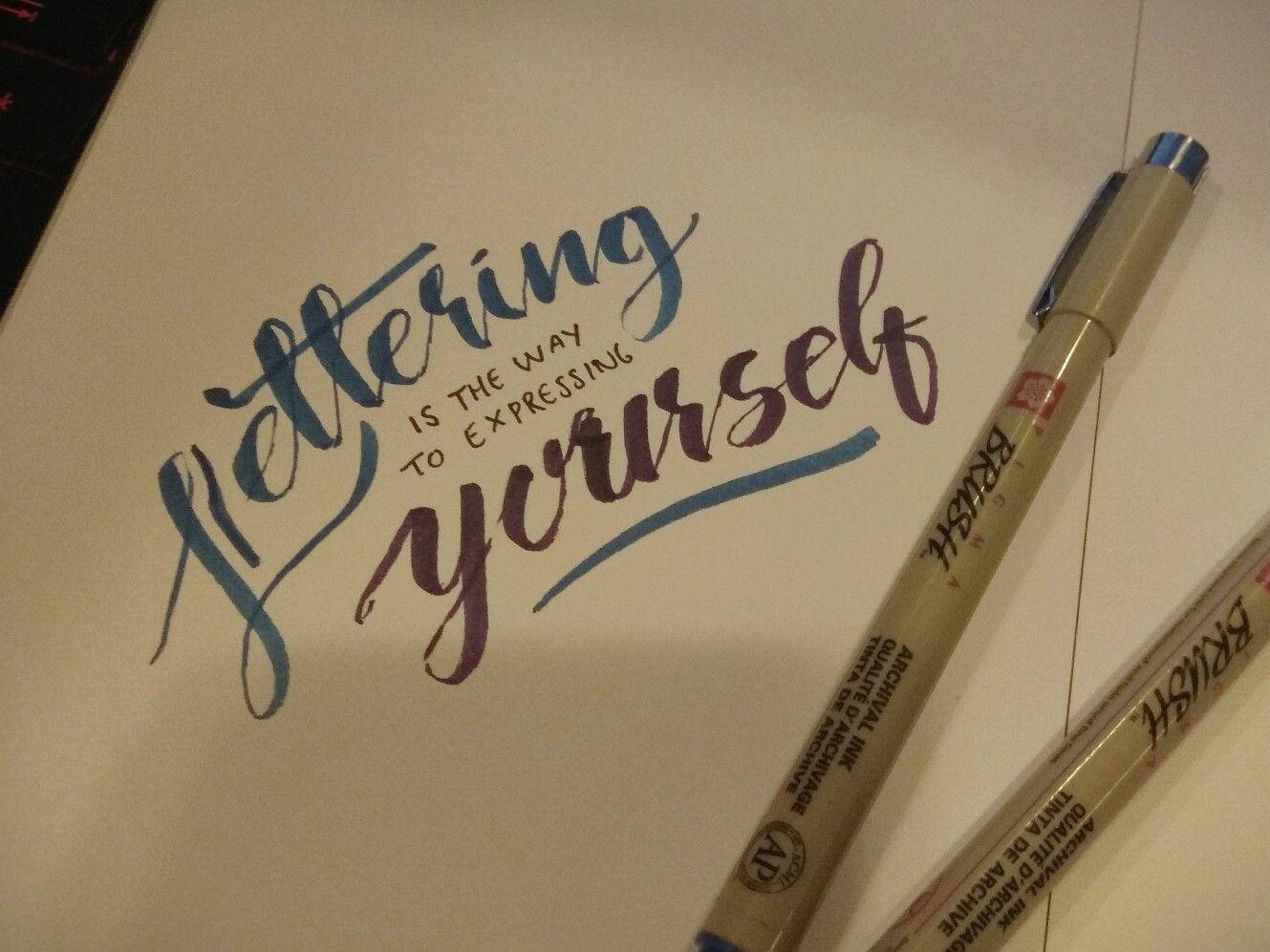 Lettering Brush Pen Quotes Sakura Pigma