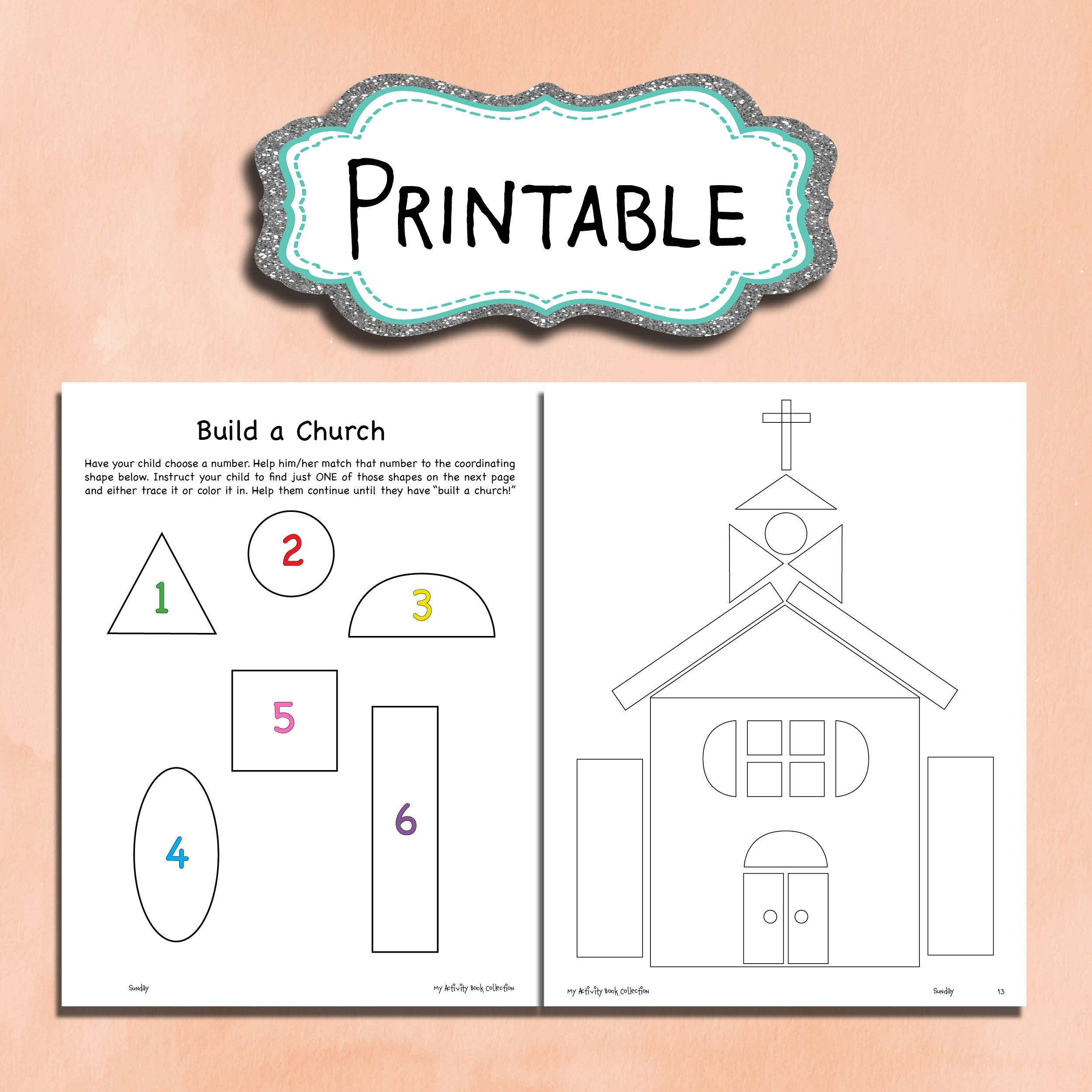 Build A Church Printable Worksheet For Kids