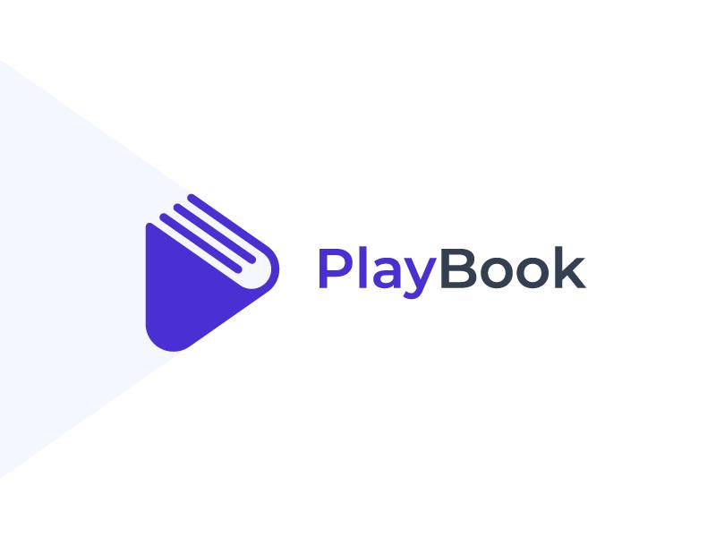 Playbook Logo Identity Branding Design Logo Book Logo Logo Design Creative