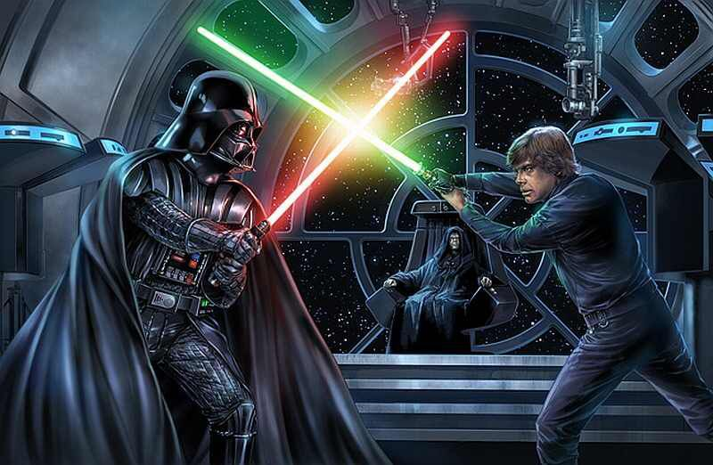 Darth Vader Vs Luke Skywalker Wallpaper Star Wars Pinterest