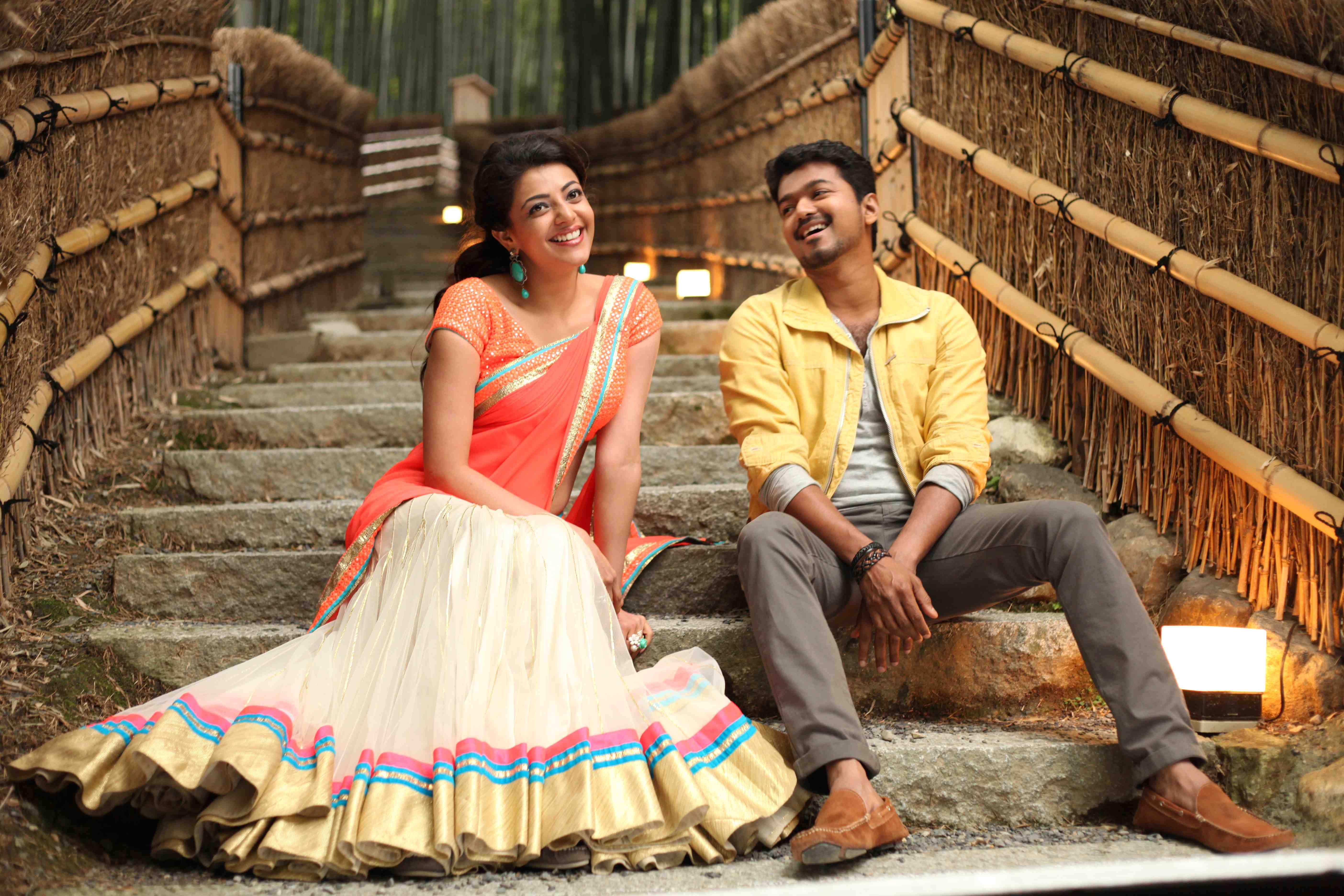 Kajal Agarwal & Vijay #Jilla #KomalShahani | Celeb styling ...