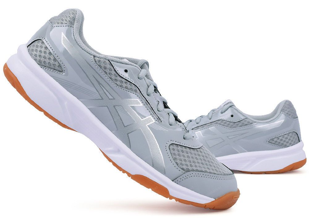 237f97aa6d5 ASICS UP COURT 2 Unisex Badminton Shoes Indoor Shoes Gray Mesh NWT ...