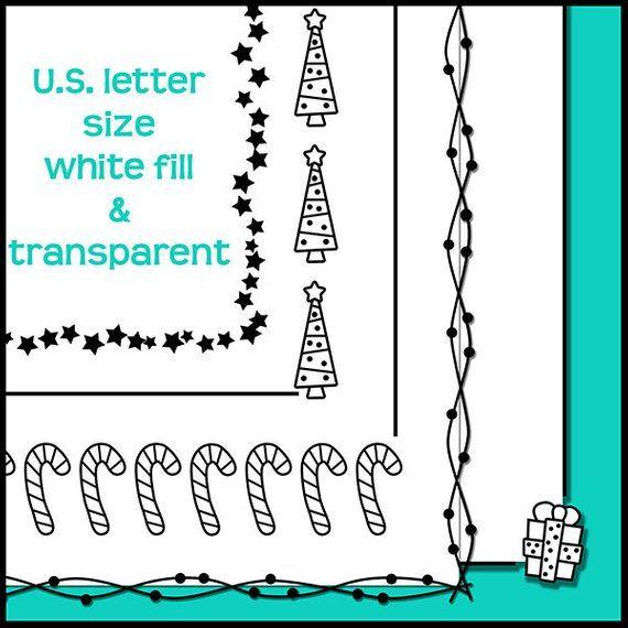 Christmas Clipart, Christmas Doodle Borders, Christmas Frames