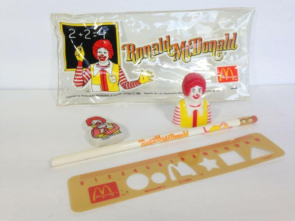 1983 Ronald McDonald Happymeal Pencil Sharpener