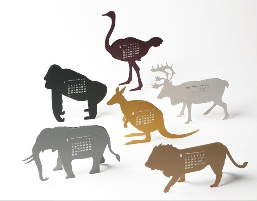 animal calinder graphic pinterest stationary