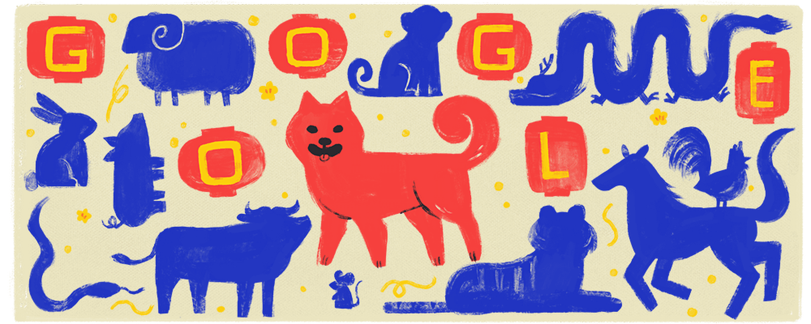 Happy Lunar New Year! Wag hello to the Year of the Dog