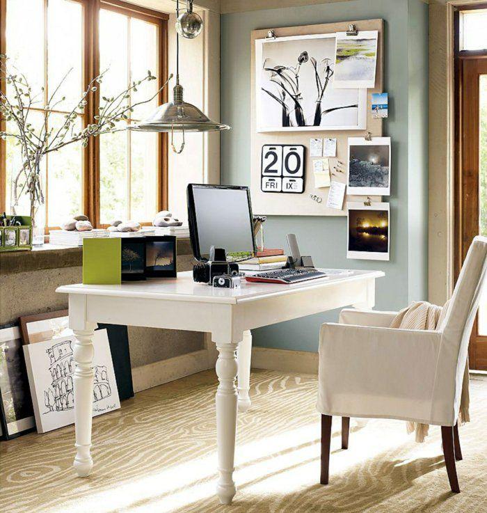 büroeinrichtung weiße büromöbel sessel schreibtisch holz metallene ...