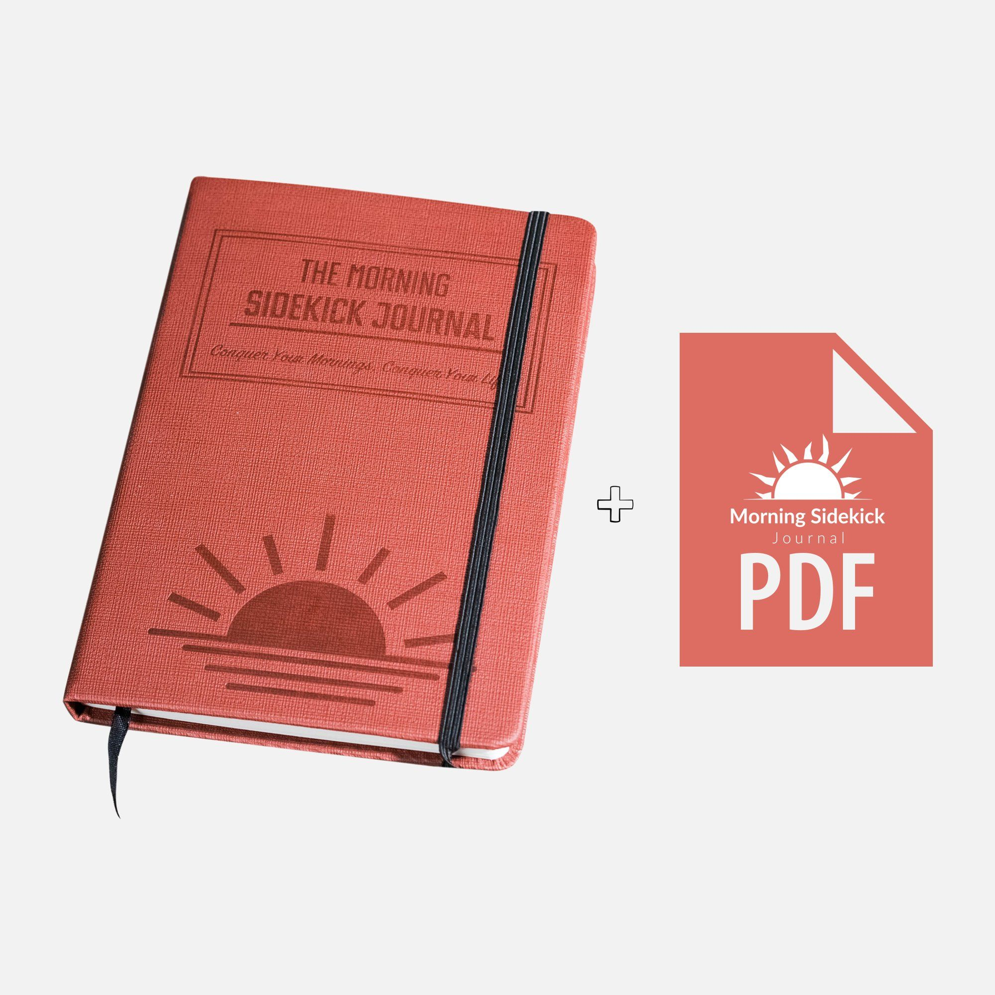 Morning Habit Tracker The Morning Sidekick Journal A Science Driven Daily Planner for Building Positive Life Habits. Sunrise red. Create Your Perfect Morning Routine