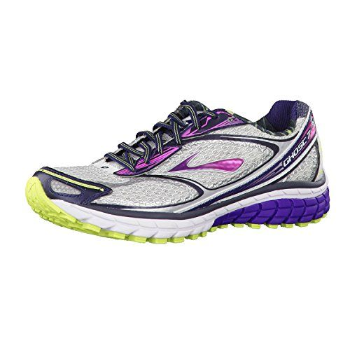 cool Women's Brooks Ghost 7 Running Shoe White/Helitrope/SharpGreen Size 10  M US