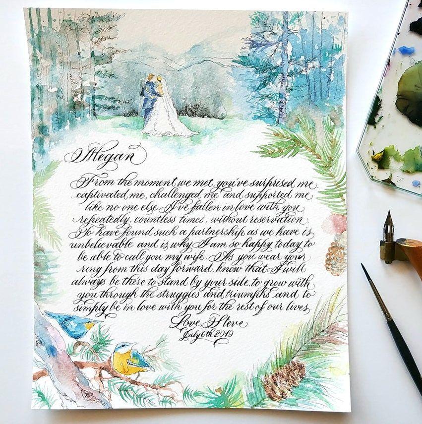Watercolor Vows