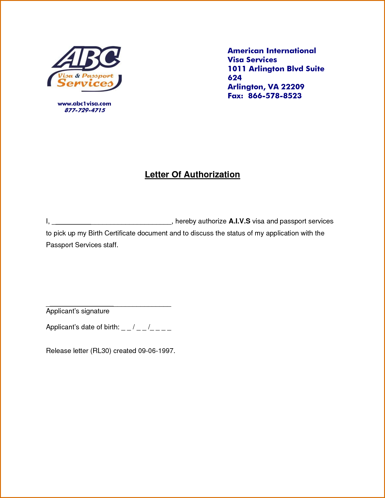 authorization letters authorizationletters letter template birth ...