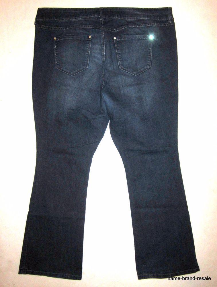 f3dd2e21720 TORRID Boot Cut JEANS Womens PLUS 22 3X Dark Faded Wash Denim Stretch  Slimming