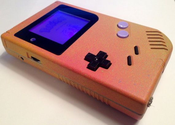 Custom Frontlit Nintendo Gameboy Color for Retro Gaming in the dark