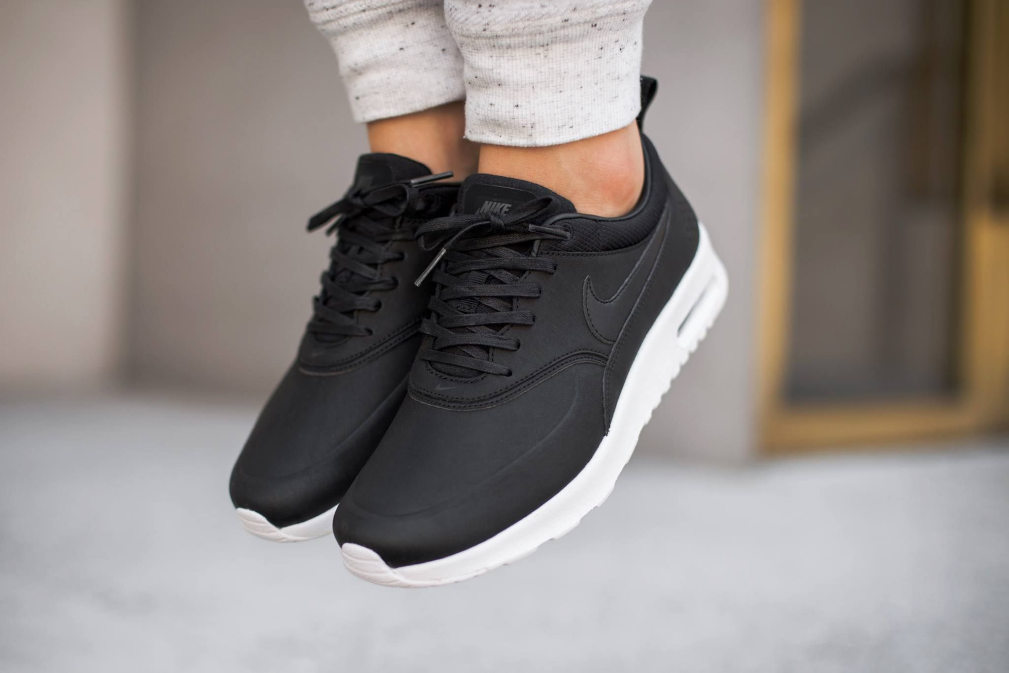 bea3b5fccc0 NIKE Air Max Thea | Footwork. in 2019 | Leather sneakers, Nike shoes ...