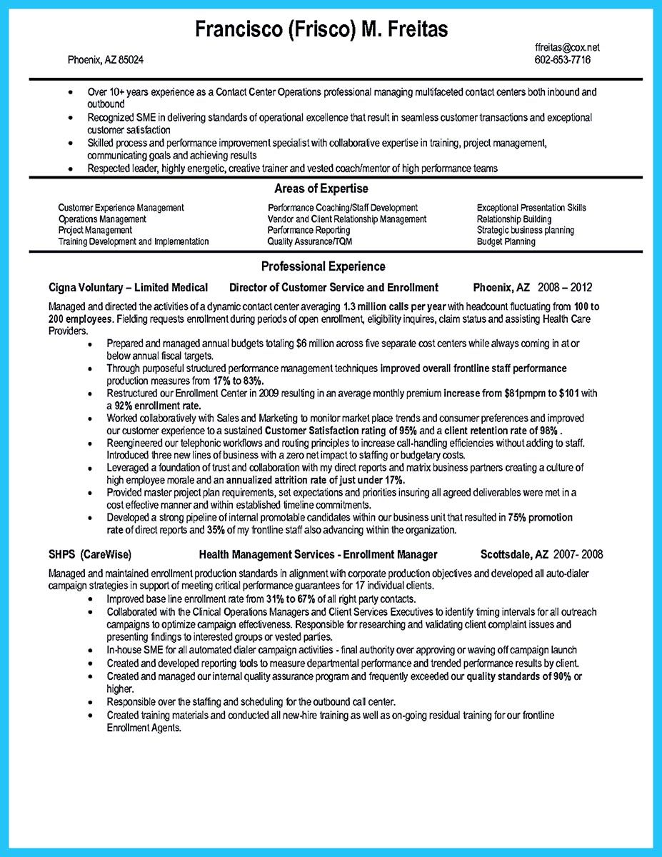 Create Charming Call Center Supervisor Resume With Perfect Structure