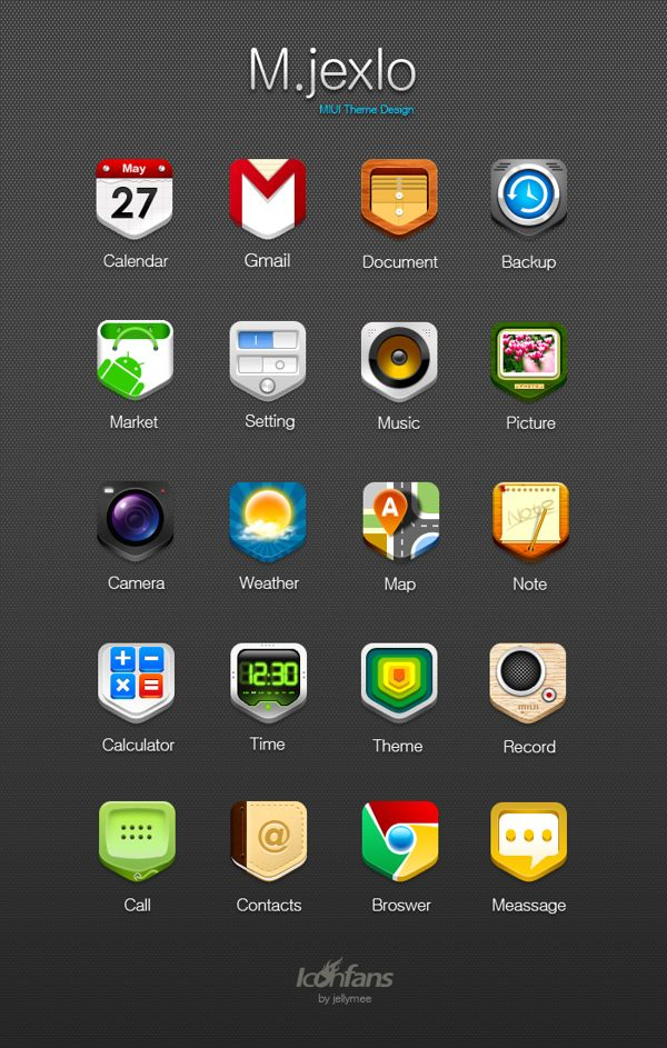 MIUI theme Design by jelly sheng