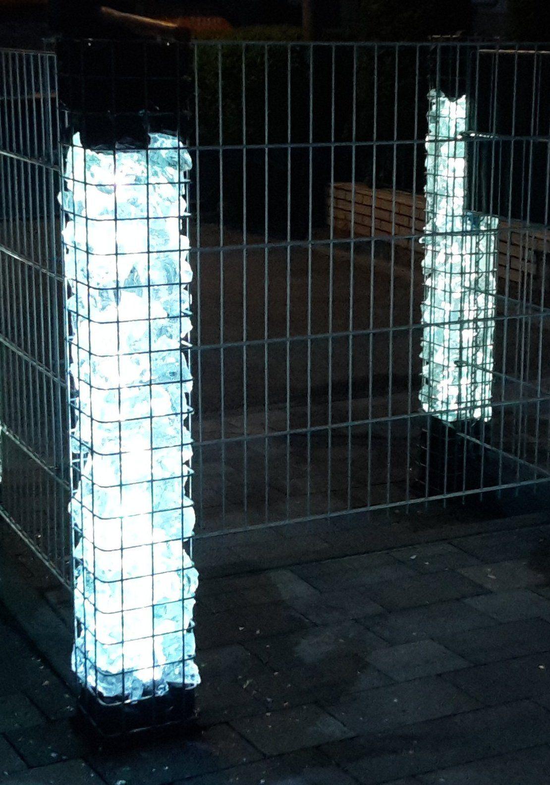pin von lichtidee de auf gabionen beleuchtung pinterest. Black Bedroom Furniture Sets. Home Design Ideas