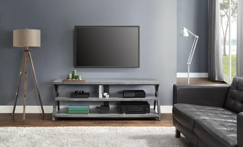 Axon Tv Stand Grey Leon S Tv Room Grey Tv Stand Tv Stand