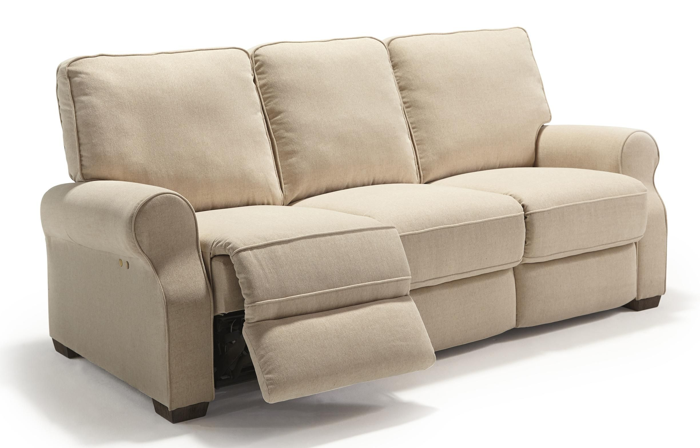 Joyner POWER Lay Flat Reclining Sofa with Drop Down Table in