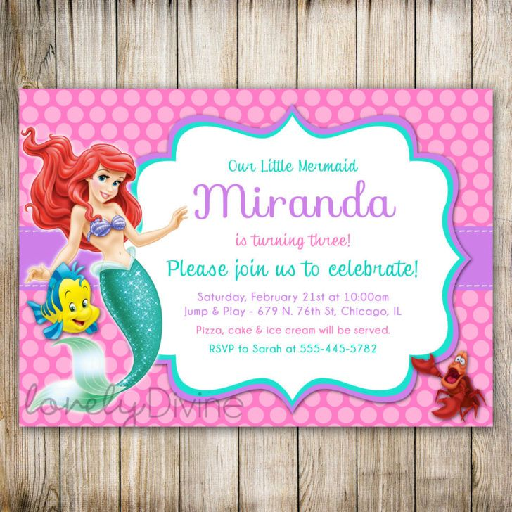 Birthday Bright Pink Polkadot Little Mermaid Birthday Party