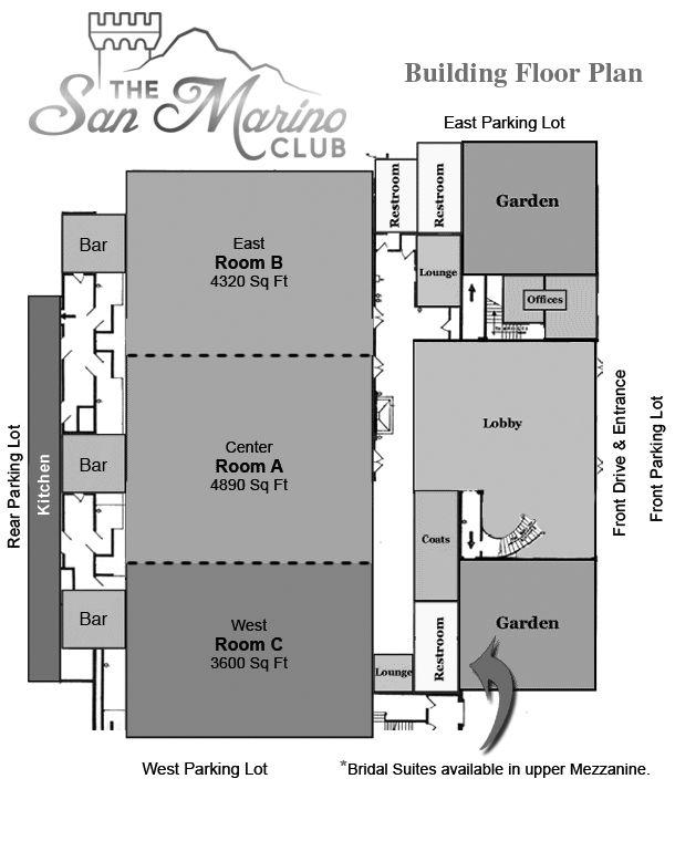 A Floor Plan Of The San Marino Club Sanmarinoclub Com Floor Plans San Marino Bar Room