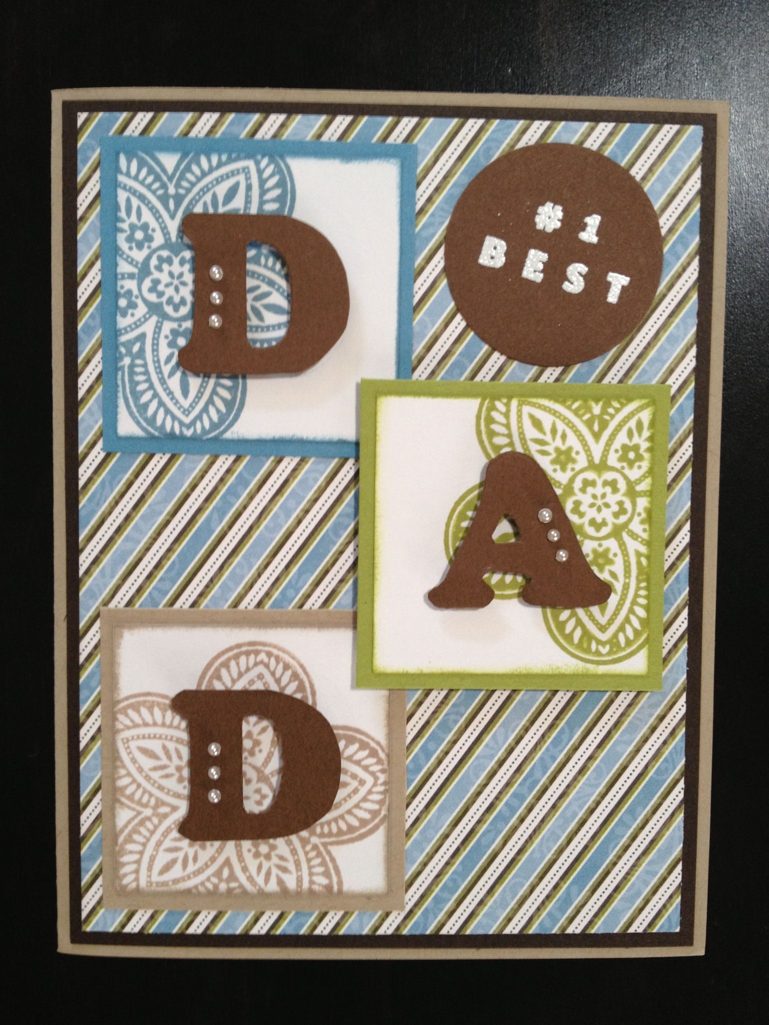 image result for homemade stamped fathers day cards