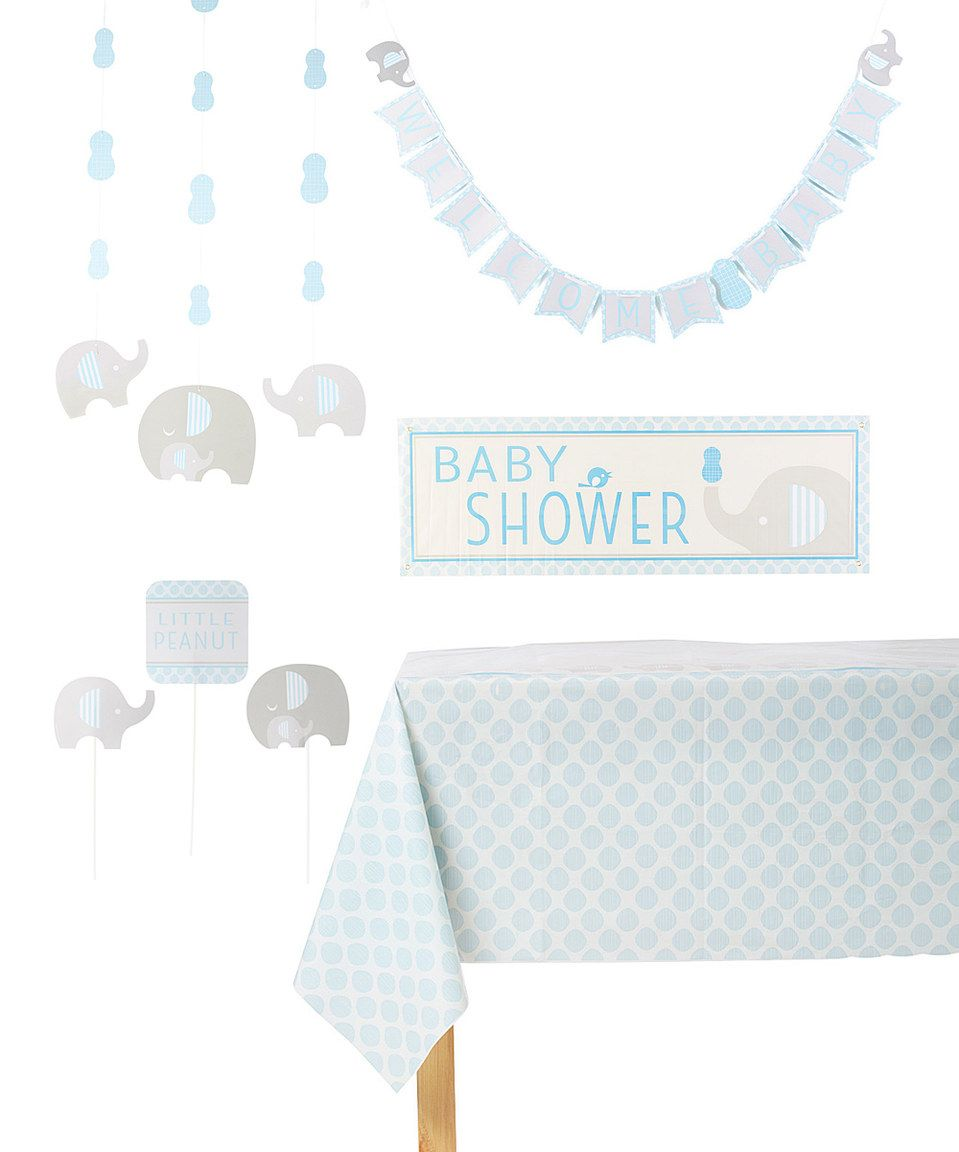 This Blue Little Peanut Décor Set by Creative Converting is perfect! #zulilyfinds