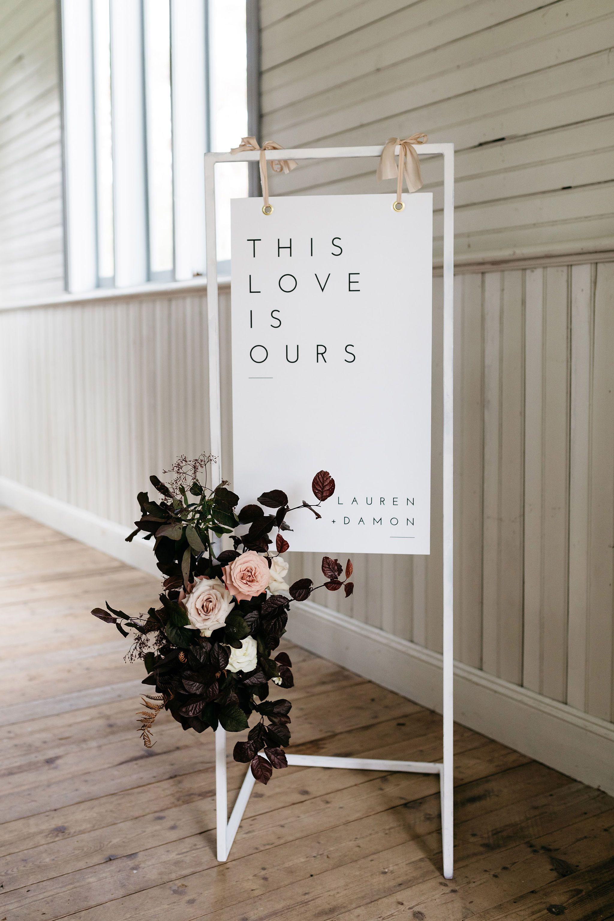 THE BRACEY WEDDING #weddingwelcomesign