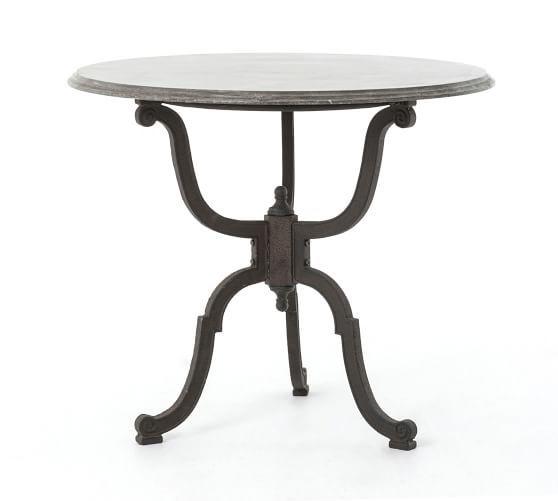 Blair Round Marble Bistro Pedestal Table