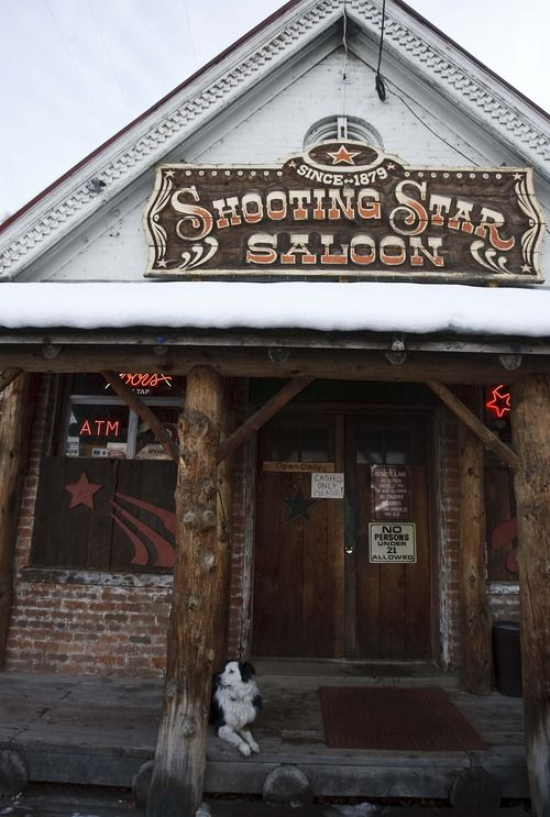 Leah Hogsten     The Salt Lake Tribune The Shooting Star Saloon in Huntsville is Utah's oldest bar, built in 1865 as a trading post, it was converted into a bar in 1879.