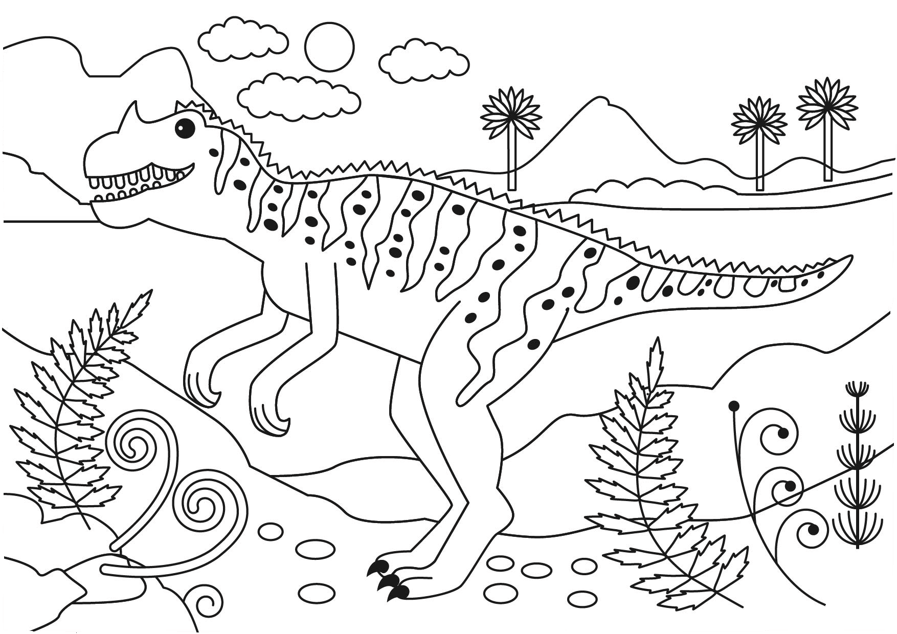 Coloring Page Free Printable Ceratosaurus Dinosaur Coloring Pages Dinosaur Coloring Coloring Books