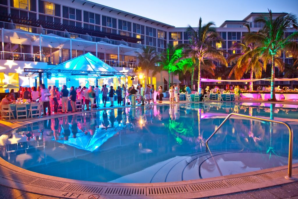 Boca By Design The Beach Club Is The Perfect Spot For A Nighttime