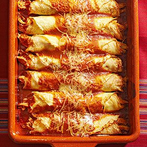 Chicken Crepes with Mole Amarillo From Better Homes and Gardens, ideas and improvement projects for your home and garden plus recipes and entertaining ideas.