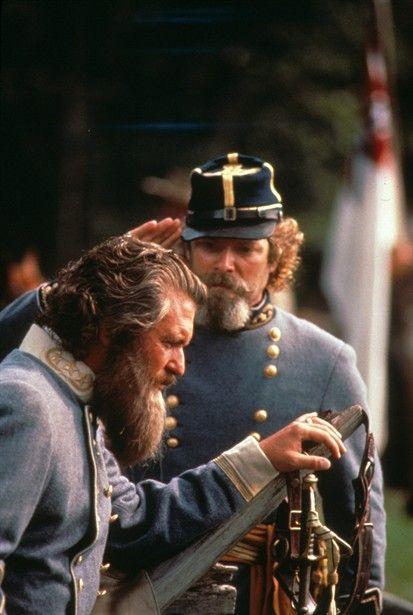 Tom Berenger And Stephen Lang In Gettysburg Best Movie Of All Time Civil War Confederate Civil War Generals Civil War Photos