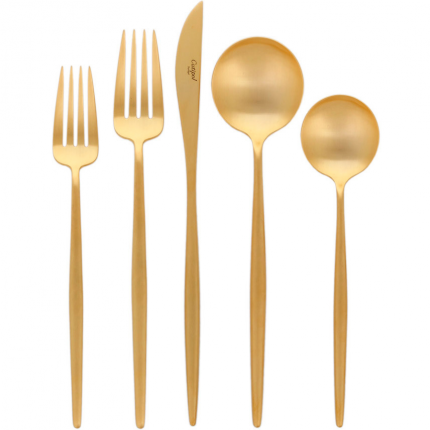 Moon Cutlery - Brushed Gold - 5 Pcs | Cutipol | HORNE
