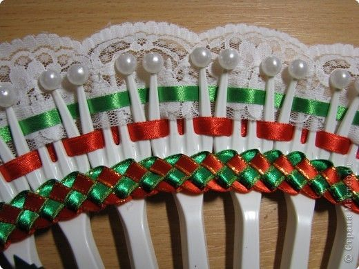 Img 6404 520x390 70kb ideapankki pinterest for Crafts with plastic spoons and forks