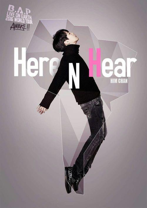 "Himchan B.A.P LIVE ON EARTH 2016 WORLD TOUR ""Here N Hear"""