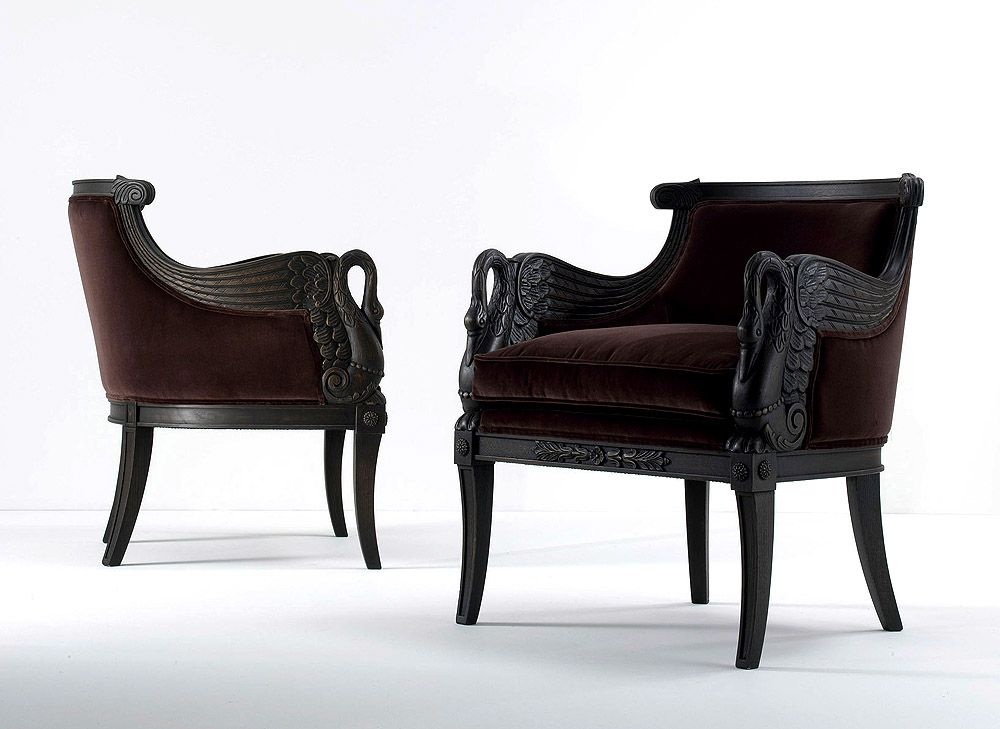 Tl Furniture Neo Classical Carved Armchair With Carved
