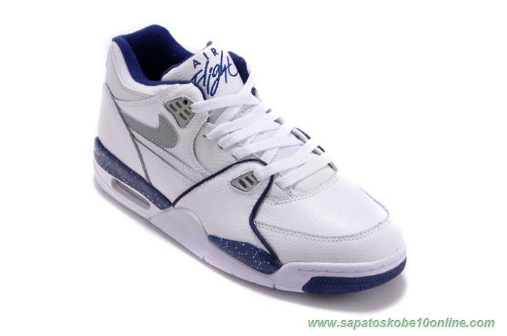 7bae6bfa65c Leather Branco Azul 306252-114 Nike Air Flight 89 Sapatilhas