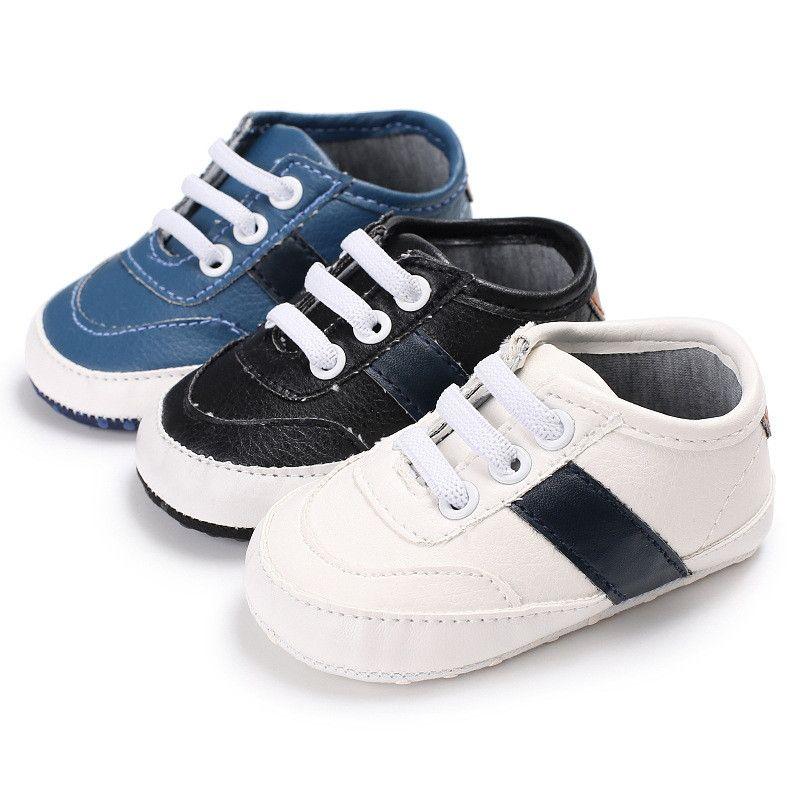 77a53d852b8 Antideslizante de LA PU Zapatillas de deporte de Cuero Bebé Niño Shoessoft  Suela Blanda Recién Nacido