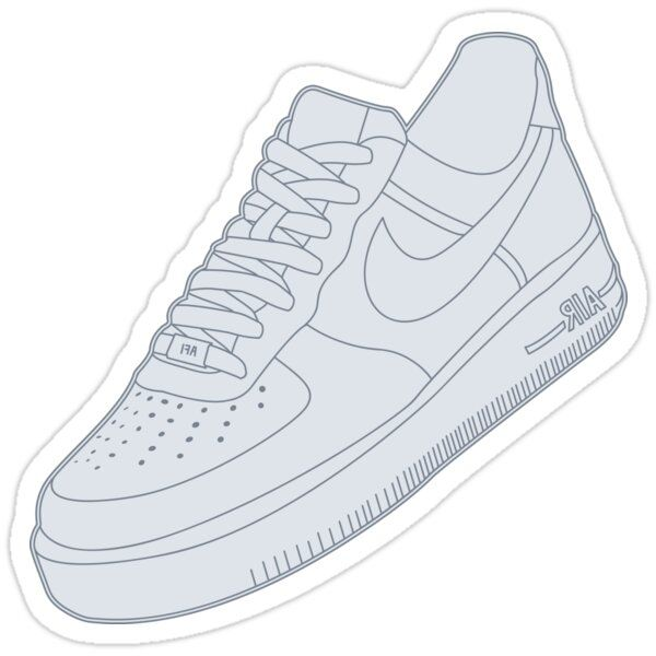 White Air Force Ones Sticker by 4rbs in 2021   White air force ...