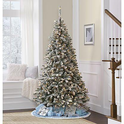 Jaclyn Smith 7 Colorado Flocked Pine Christmas Tree