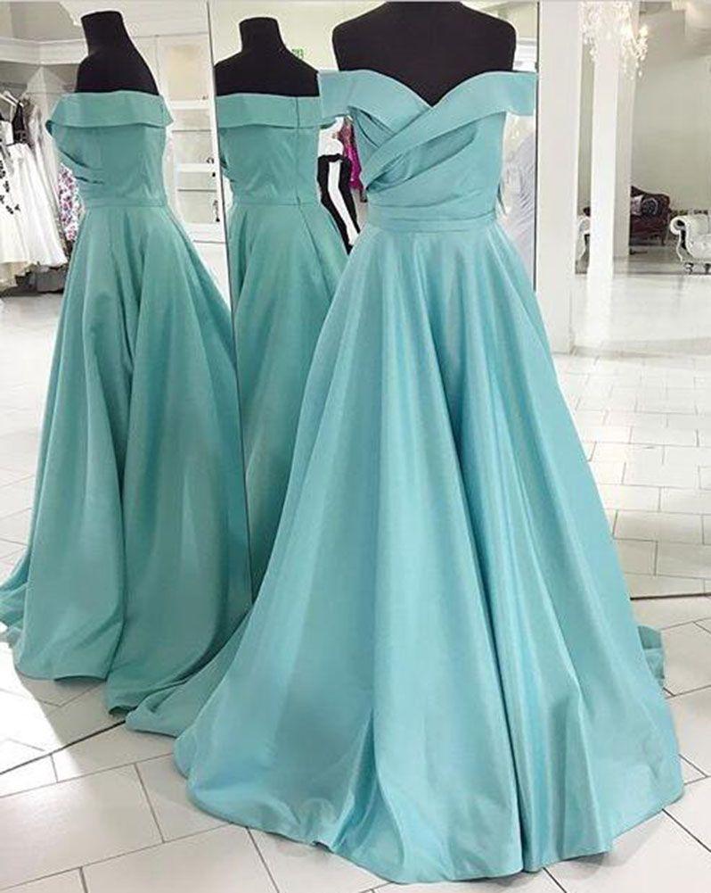 Prom Dress Off the Shoulder Sweetheart Line Long Formal Evening ...