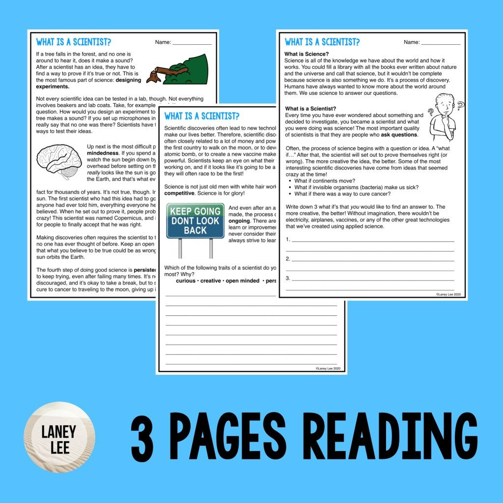 What Is A Scientist Preview Images 001 What Is A Scientist Teaching Close Reading Guided Reading