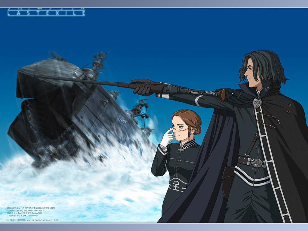 Last Exile - Alex Rowe, Captain of the Silvana & Sophia Forrester, Vice- Captain.
