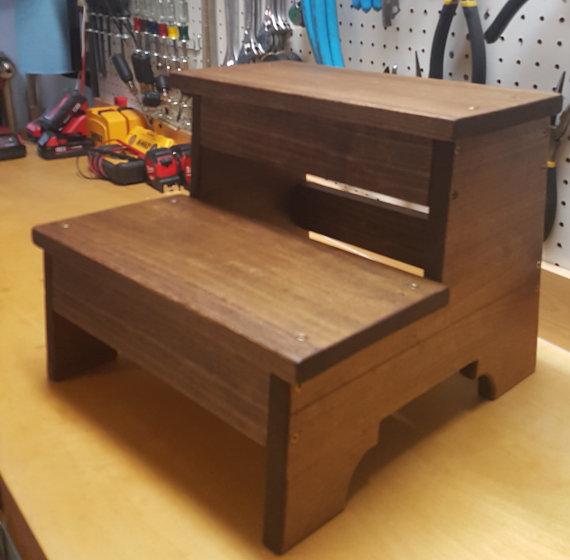 Custom Handmade Wooden Toddler Step Stool or by EastOnJackson