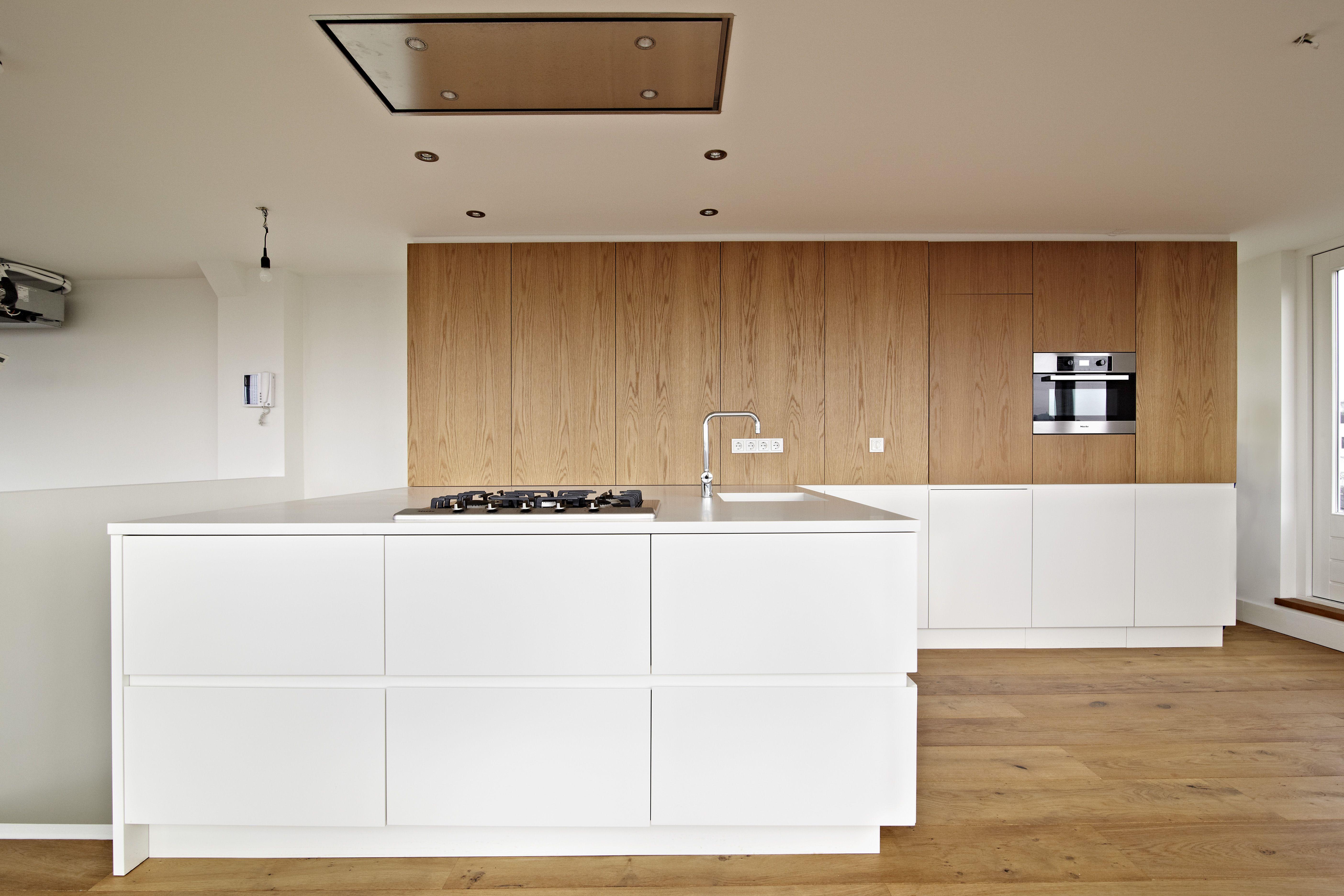 Keuken Wandkast 5 : Eigen #fineer #afzuigkap #opmaat #miele #inbouwapparatuur